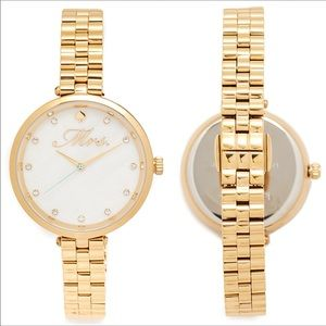 "*NWT* ""Mrs."" Bridal Kate Spade New York Gold watch"